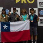 Chilenos se subieron al podio del Reef Peñascal Pro 2018