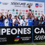 Los Cóndores se titularon campeones del Sudamericano M20 de Rugby Seven