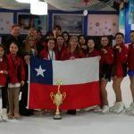 Chile se tituló campeón de la categoría intermedia en el Sudamericano de Patinaje Artístico sobre Hielo