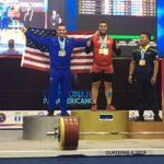 Arley Méndez se coronó tricampeón panamericano de levantamiento de pesas