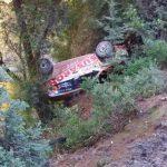 Emilio Fernández y Jorge Riquelme abandonaron el Copec Rally Chile tras sufrir un accidente