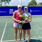 Alexa Guarachi se quedó con el título de dobles del W100 Bonita Springs