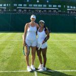 Alexa Guarachi y Sabrina Santamaría cayeron en primera ronda de dobles en Wimbledon