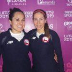 Ana María Pinto y Giselle Delgado aseguran medalla para Chile en el squash de Lima 2019