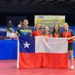 Chile gana medalla de bronce por equipos en el Latinoamericano Cadete de Tenis de Mesa