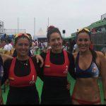 Francisca Rivas y Pilar Mardones terminaron sextas en el volleyball playa de Lima 2019