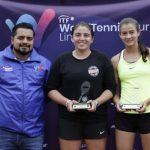 Fernanda Labraña y Camila Romero se titulan campeonas de dobles del W15 de Lima