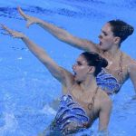 Isidora Letelier y Natalie Lubascher terminaron séptimas en el nado sincronizado de Lima 2019