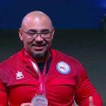 Juan Carlos Garrido ganó medalla de bronce en el Mundial de Parapowerlifting