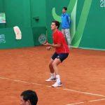 Tomás Barrios cayó en singles y dobles del Challenger de L'Aquila