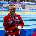 Alberto Abarza y Vicente Almonacid se subieron al podio en la Para Natación de Lima 2019