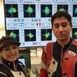 Karina Vera y Anyelo Parada logran nuevo récord nacional en el tiro al blanco de Lima 2019