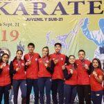Catalina Valdés, Valentina Toro y Bastián Arce se consagran campeones en el Panamericano Juvenil y Sub-21 de Karate