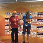Eliana Busch ganó una nueva medalla de plata en el Mundial Máster de Natación