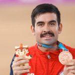 Felipe Peñaloza ganó medalla de bronce en el ciclismo pista de Lima 2019