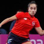 Paulina Vega fue la mejor representante nacional en la Copa Panamericana de Tenis de Mesa