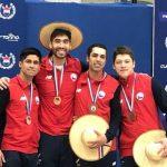 Chile obtuvo el podio completo en el sable masculino del Sudamericano de Esgrima