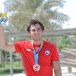 Emile Ritter ganó medalla de bronce en el esquí náutico de los Juegos Mundiales de Playa