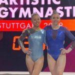 Simona Castro y Franchesca Santi iniciaron la participación chilena en el Mundial de Gimnasia