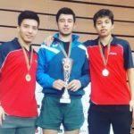 Chile suma tres medallas en el Open Junior Cadete Portugal de Tenis de Mesa