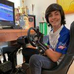 Cristián Pastrián se quedó con el título del Campeonato Club Karting Chile E-Sport