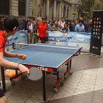 El tenis de mesa se tomó el centro de Santiago