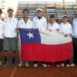 Equipo chileno masculino gana en su debut del Sudamericano Sub 14 de Tenis