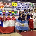 Chile logra una buena actuación en el Sudamericano Menores de Tenis de Mesa