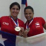 Ángela Grisar y Carla Muñoz se instalaron en cuartos de final de dobles del Mundial de Racquetball