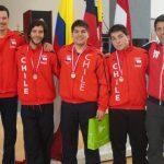 Equipo masculino de florete logra tercer oro para Chile en Sudamericano de Esgrima