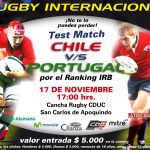 Portugal y Chile se preparan para gran Test Match