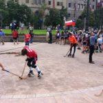 El hockey patín protestó frente a La Moneda por no inclusión de este deporte en los Odesur 2014