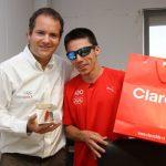 """Cristián Valenzuela fue premiado como el """"Deportista ADO"""" del año 2012"""