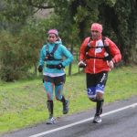 La maratonista Marlene Flores inició su desafío de bordear el lago Llanquihue