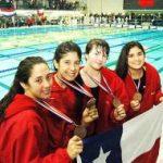 Chile finaliza con 11 medallas la competencia de natación del Sudamericano de Deportes Acuáticos