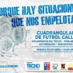 La fundación Techo organiza un cuadrangular de fútbol-calle para este sábado en Puerto Montt