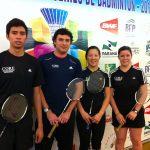 Chilenos avanzan a octavos de final en el Open Mercosur de Badminton