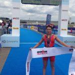 Bárbara Riveros logró un histórico triunfo en el Medio Ironman de Berlín