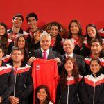 Presidente de la República recibió a la delegación chilena que participará en los Juegos Universiadas 2013