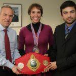 Subsecretario de Deportes se reunió con Daniela Callejas, Campeona Mundial de Muay Thai