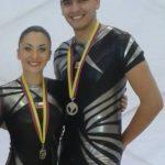 Natalia Bravo y Víctor Retamal lograron medalla de plata en el Sudamericano de Gimnasia Aeróbica