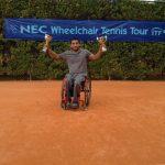Robinson Méndez se coronó campeón en singles y dobles del Abierto de Croacia