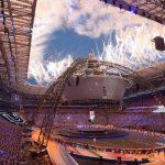 Daniel Pineda fue el abanderado chileno en la inauguración de los Juegos Olímpicos Universitarios en Rusia