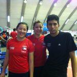 Camila Macaya y Ting Ting Chou van por la final de dobles damas del Open Venezuela Badminton