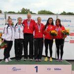 Nancy Millán y María José Mailliard lograron medalla de bronce en el Mundial de Canotaje 2013