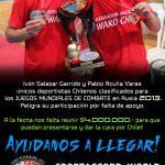 Deportistas chilenos realizan campaña buscando obtener recursos para los World Combat Games