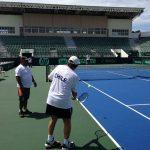 Equipo chileno de Copa Davis realizó su primera práctica en República Dominicana