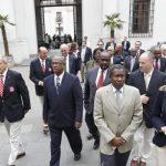 Presidente de la República recibió a delegados del Caribe por postulación chilena a Panamericanos 2019