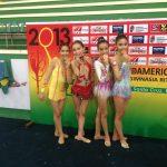 Chile obtuvo dos medallas en el Sudamericano Infantil Juvenil de Gimnasia Rítmica