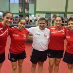 Chile se corona bicampeón femenino por equipos en el Sudamericano Adulto de Tenis de Mesa